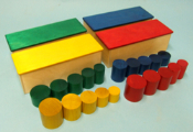 Simple Knobless Cylinder Boxes - Set of 4
