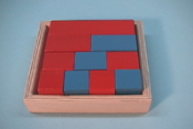 Red & Blue Fraction Box Painted