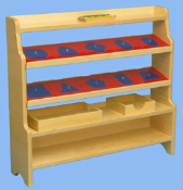Metal Inset Drawing Shelf