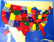 United States Puzzle Map
