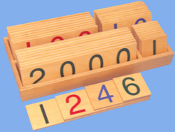 Large Wooden Numeral Cards