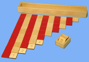 Red & Natural Table Rods