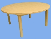 "36"" Round Laminate Maple Table"