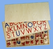 Movable Alphabet-Med.Manuscript w/Capital Letter Lid